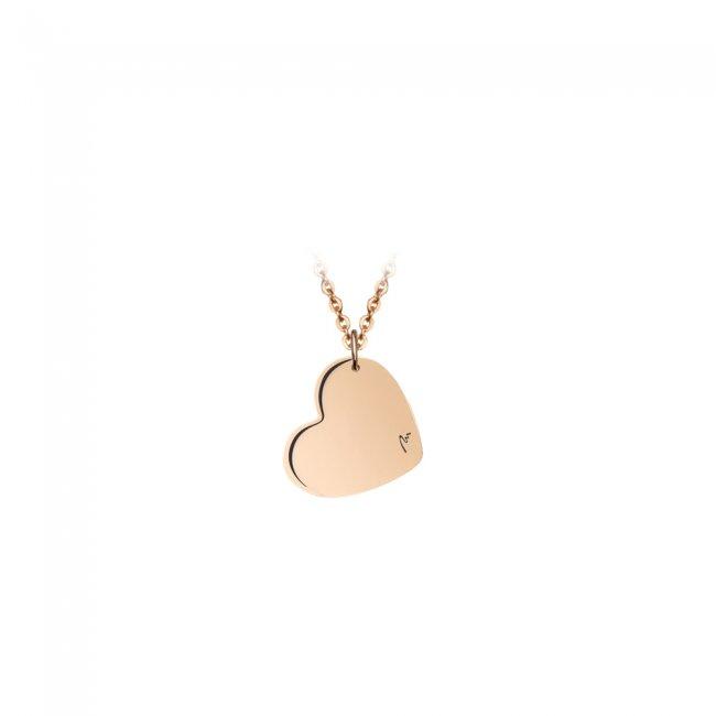 Pandantiv Inima clasica, din aur roz