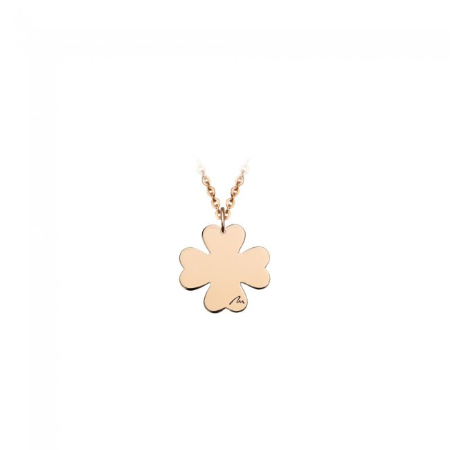 Pandantiv Trifoi clasic, din aur roz