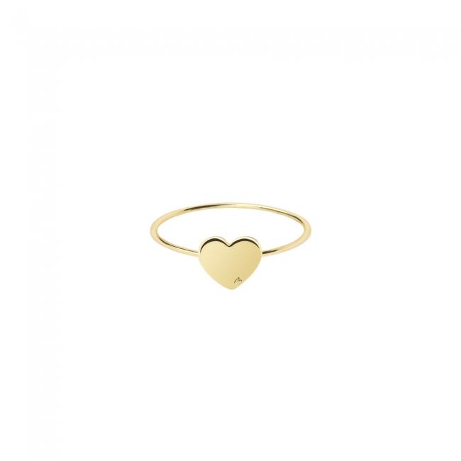 Inel Inima clasica, din aur galben
