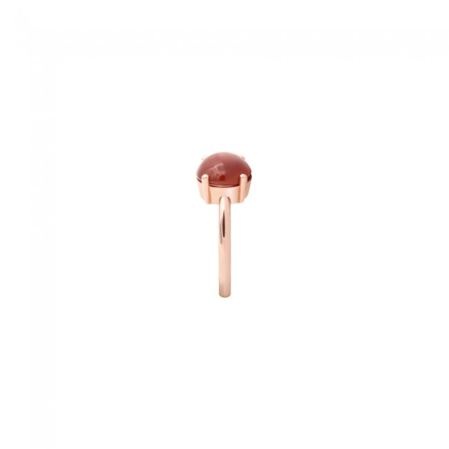 Inel din aur roz cu Piatra Corniola