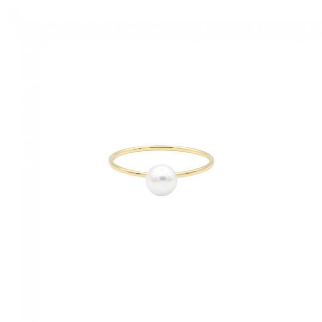 Inel din aur 14kt cu perla naturala