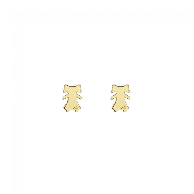 Cercei Fetita, din aur galben