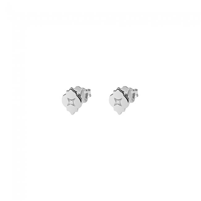 Cercei Asha cu diamante alb, din aur alb