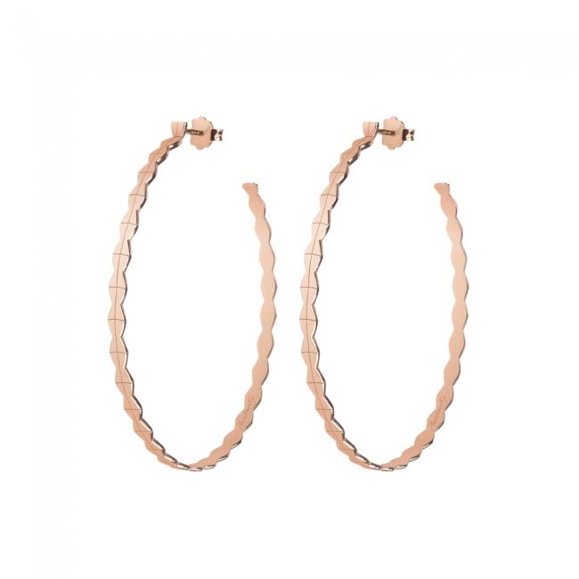 Cercei creole Infinity L, din aur roz