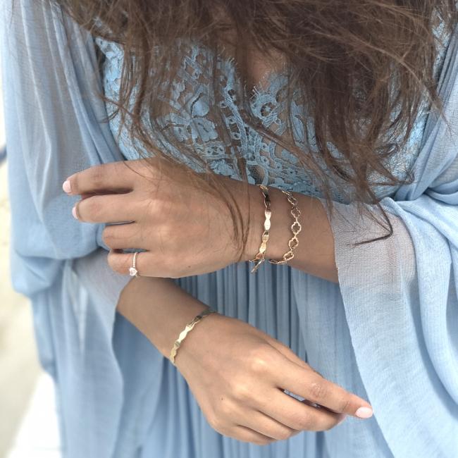 Bratara Noura, din aur alb