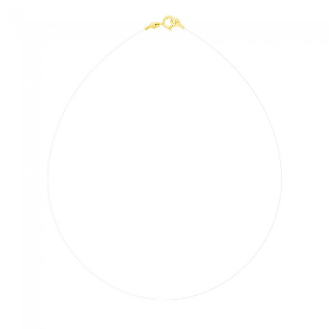 Colier transparent cu inchizatoare din aur galben