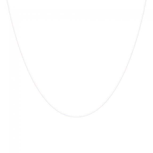 Colier transparent cu inchizatoare din aur alb
