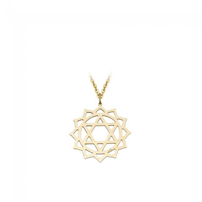 Pandantiv Chakra Inimii Anahata, din aur galben