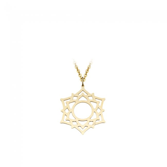 Pandantiv Chakra Coroanei Sahasrara, din aur galben