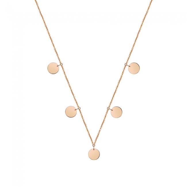 7 mm Coins drop necklace