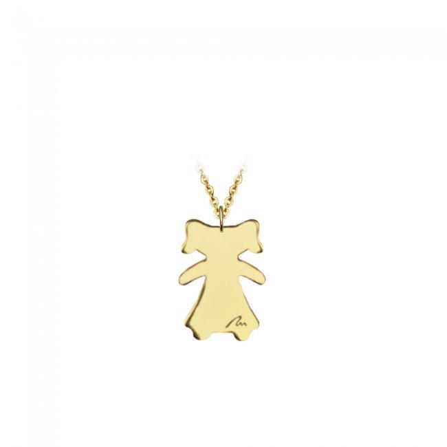 Pandant Fetita, din aur galben