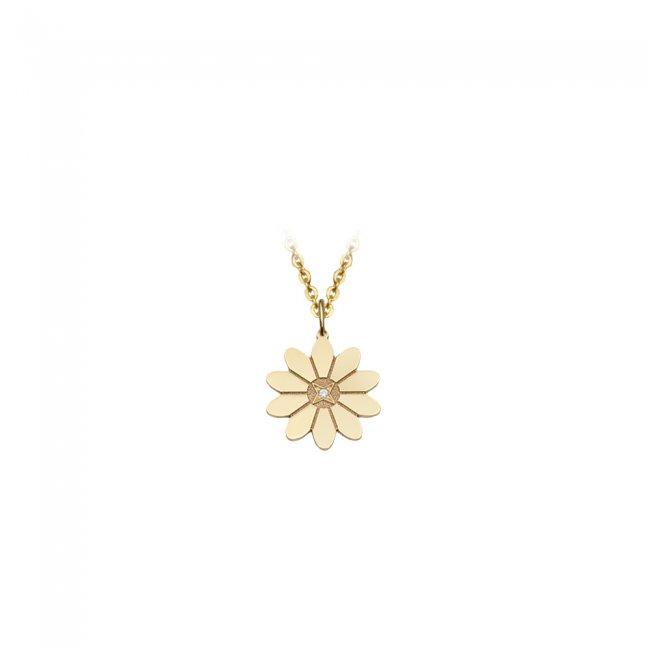 Pandantiv Margareta Regala, din aur galben, cu 1 diamant alb