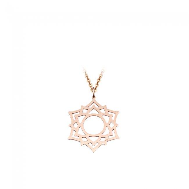 Pandantiv Chakra Coroanei Sahasrara, din aur roz