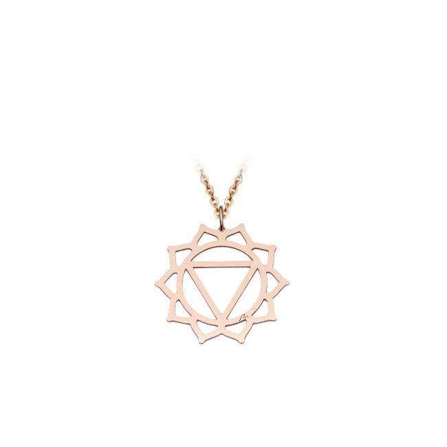 Pandantiv Chakra Plexului Solar Manipura, din aur roz