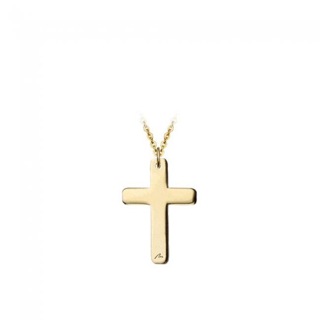 Pandantiv pe snur Cruce, din aur galben