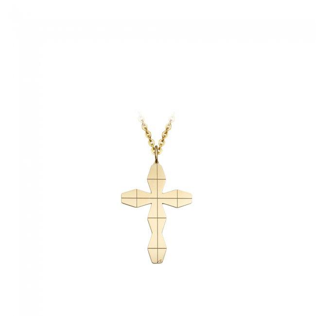 Pandativ pe snur Cruce Infinity L, din aur galben