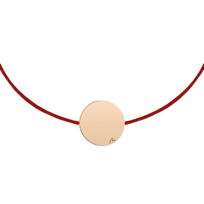 Bratara pe snur Banut 14mm, din alama placata cu aur roz