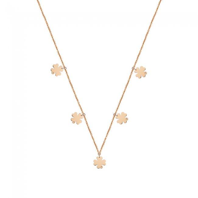 Lantisor 5 Trifoi, din aur roz