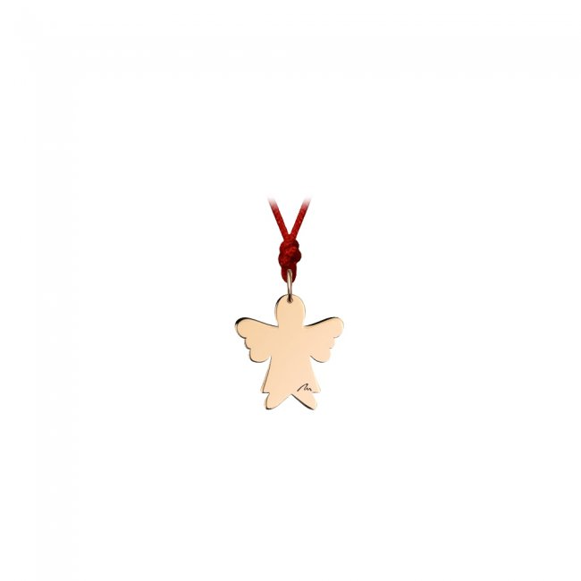 Pandantiv Inger clasic, din alama placata cu aur roz