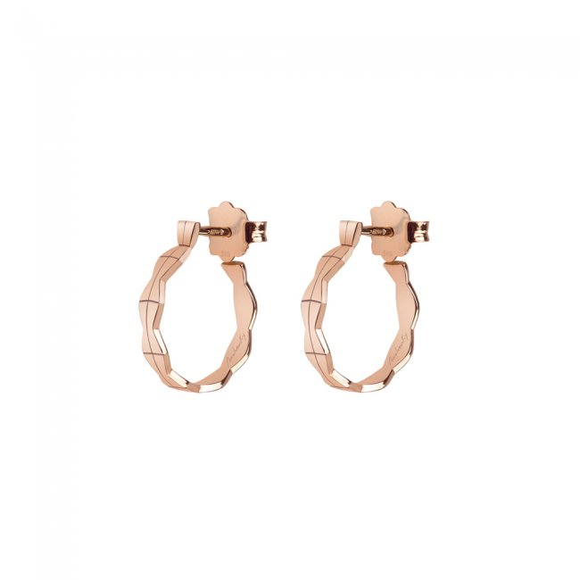 Cercei creole Infinity S, din aur roz