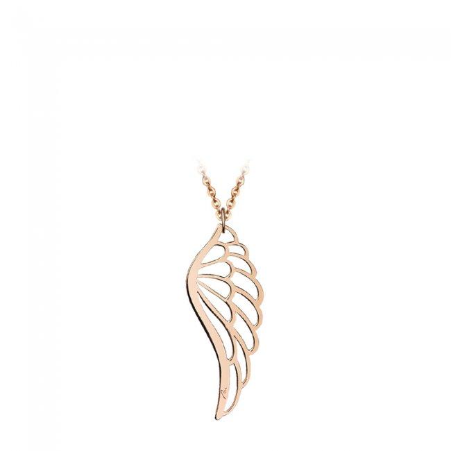 Pandantiv aripi de inger 30mm, din aur roz