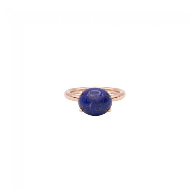 Inel din aur roz de 9 kt cu piatra Lapis Lazuli