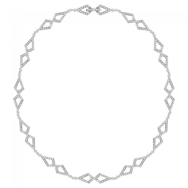 Colier Infinity Monte Carlo, din aur alb de 18 kt, cu diamante albe