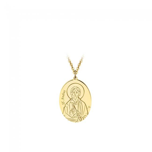 Pandantiv Sfantul Andrei, din aur galben