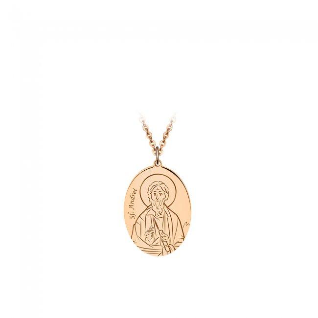 Pandantiv Sfantul Andrei, din aur roz