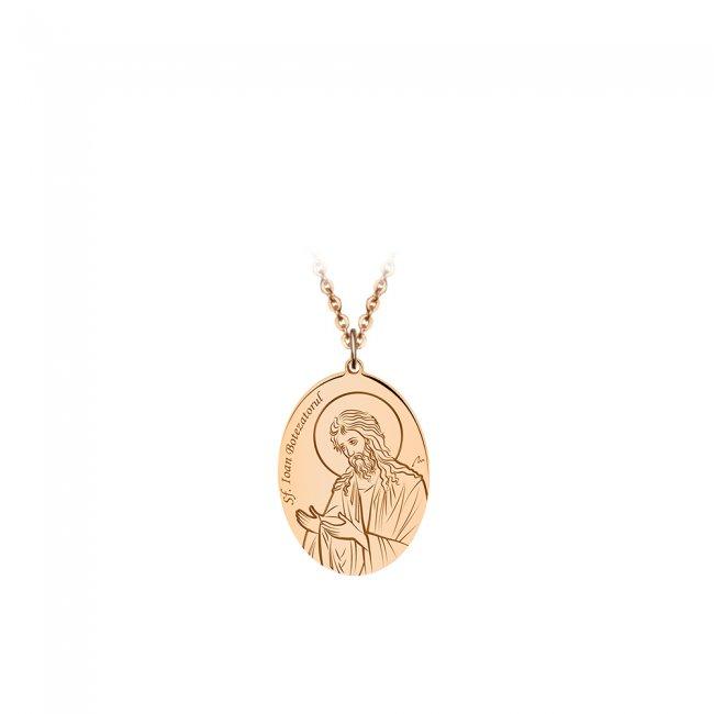 Pandantiv Sfantul Ioan Botezatorul, din aur roz