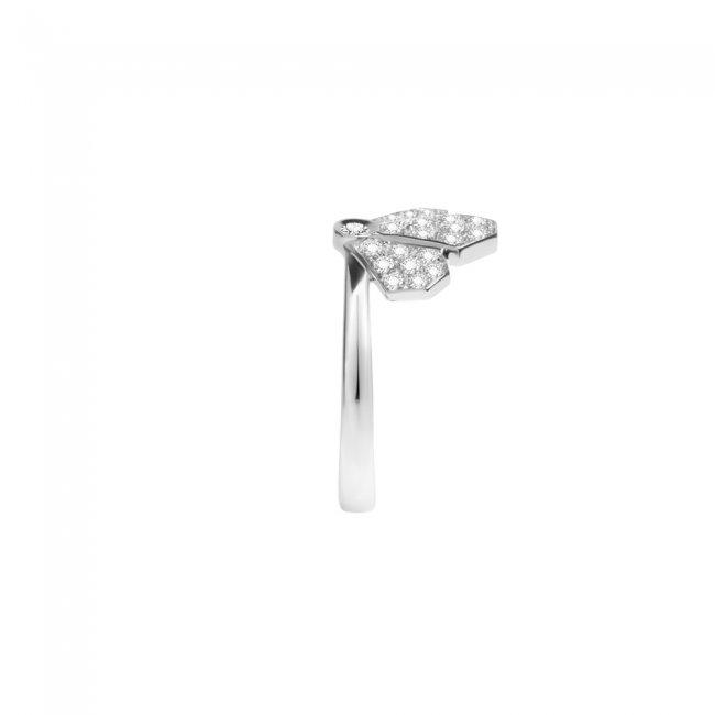 Inel Infinity Crown, din aur alb de 18 kt, cu diamante albe
