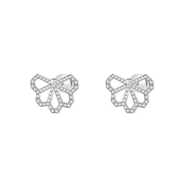 Cercei Infinity Monte Carlo, din aur alb de 18 kt, cu diamante albe