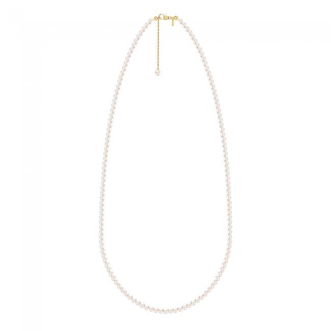 Colier cu perle de cultura de 6mm cu inchizatoare din aur galben