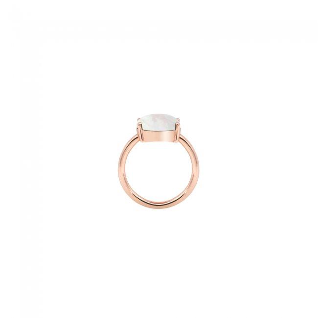 Inel din aur roz de 18 kt cu piatra Mother of Pearls
