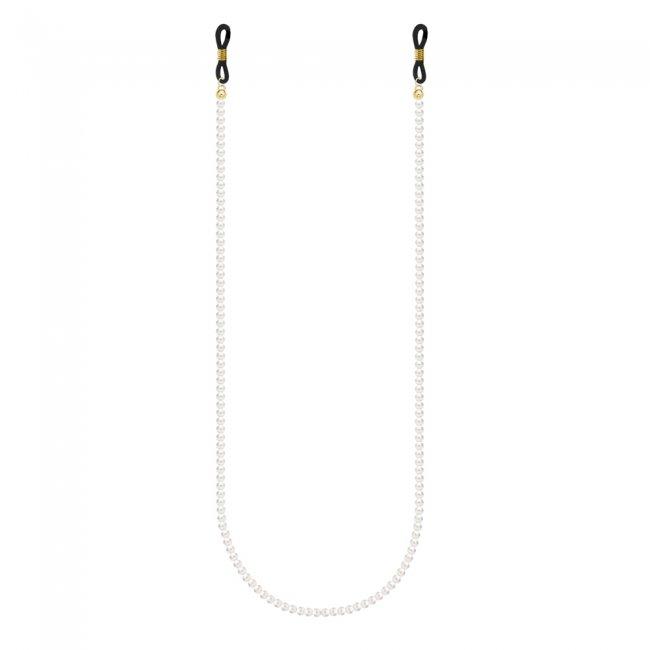 Lant pentru ochelari cu perle de 6mm, din aur galben