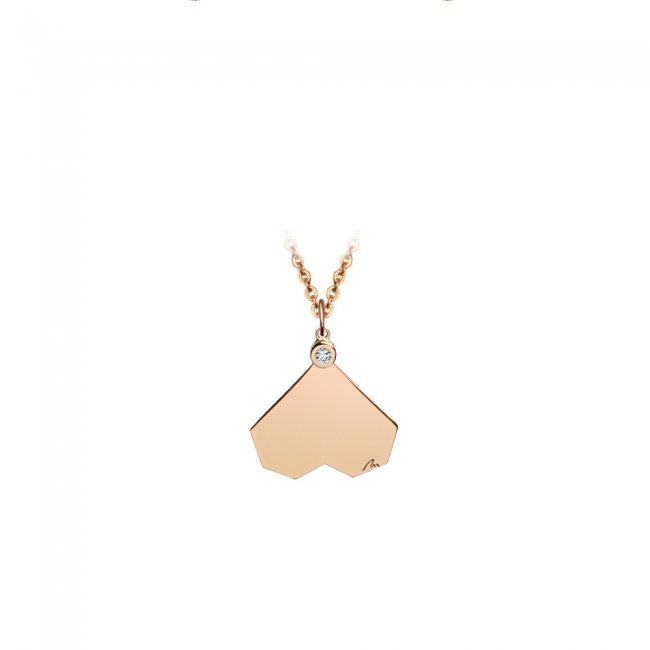 Pandantiv Commitment, din aur roz, cu diamant alb
