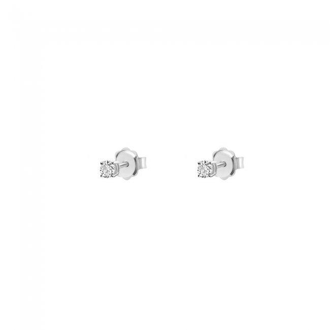 Cercei Studs cu diamante albe 18 kt, 0.25 ct