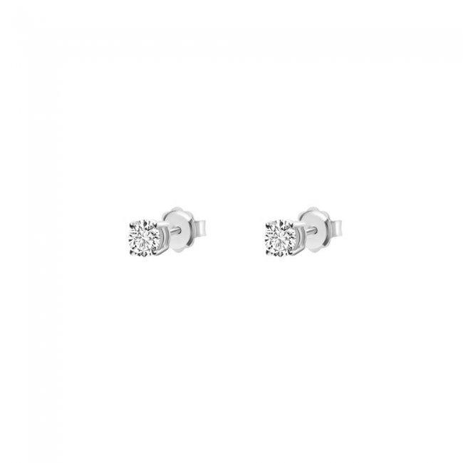 Cercei Studs cu diamante albe 18 kt, 0.70 ct