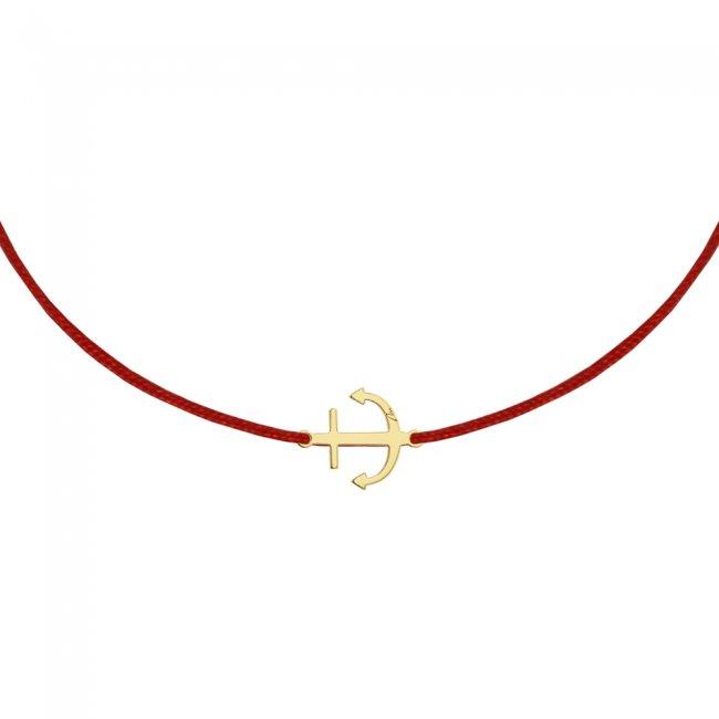 Bratara pe snur Ancora, din aur galben