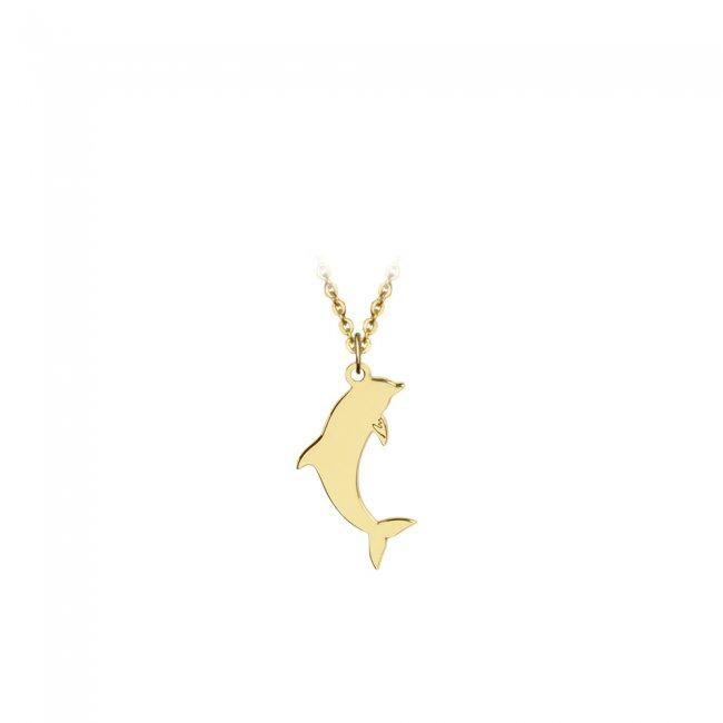 Pandantiv Delfin, din aur galben