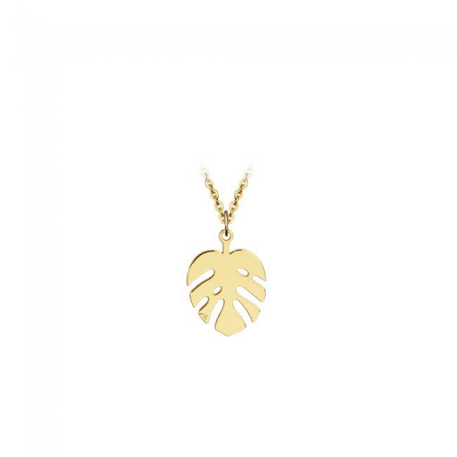 Pandantiv Frunza, din aur galben