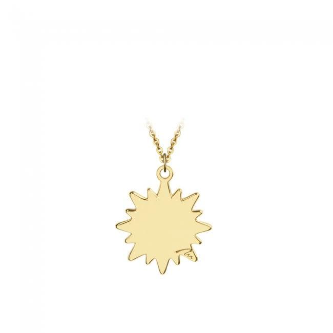 Pandantiv Soare, din aur galben