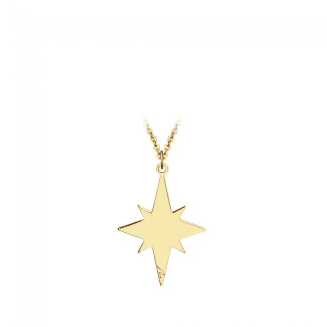 Pandantiv Steaua Nordului, din aur galben