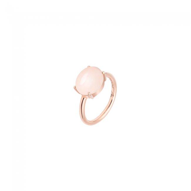 Inel din aur roz de 9 kt cu piatra Pelle D'Angelo