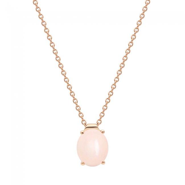Lant din aur roz de 9 kt cu piatra Pelle D'Angelo