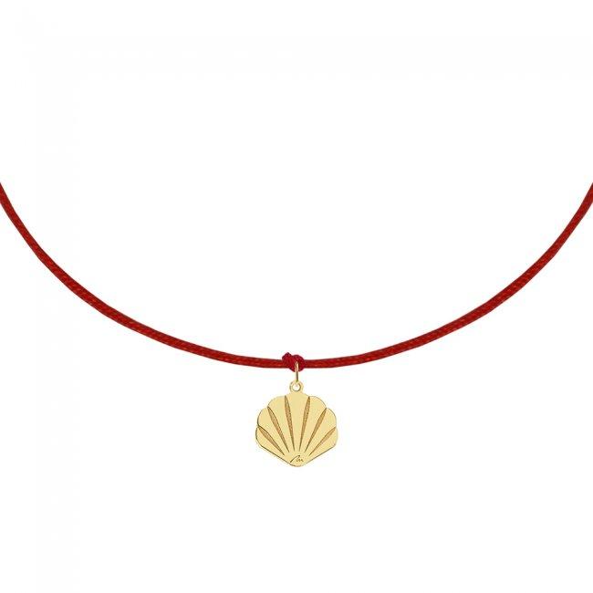 Bratara pe snur Scoica, din aur galben