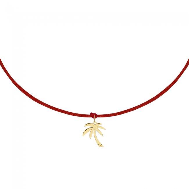 Bratara pe snur Palmier, din aur galben