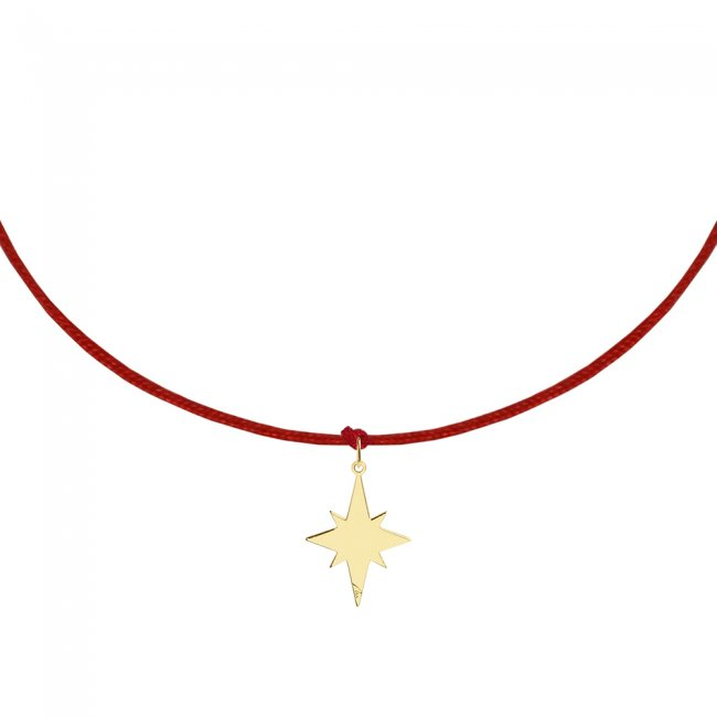 Bratara pe snur Steaua Nordului, din aur galben