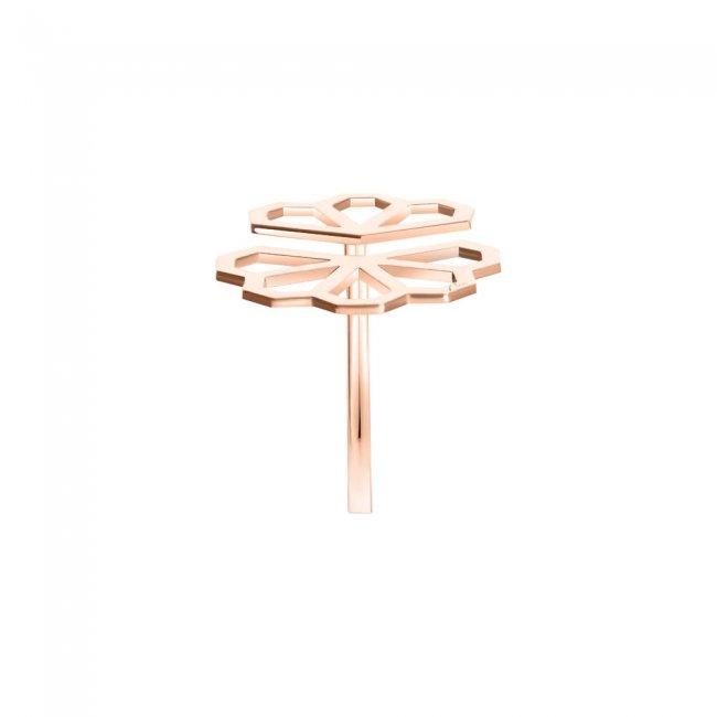Inel Infinity Ramon, din aur roz