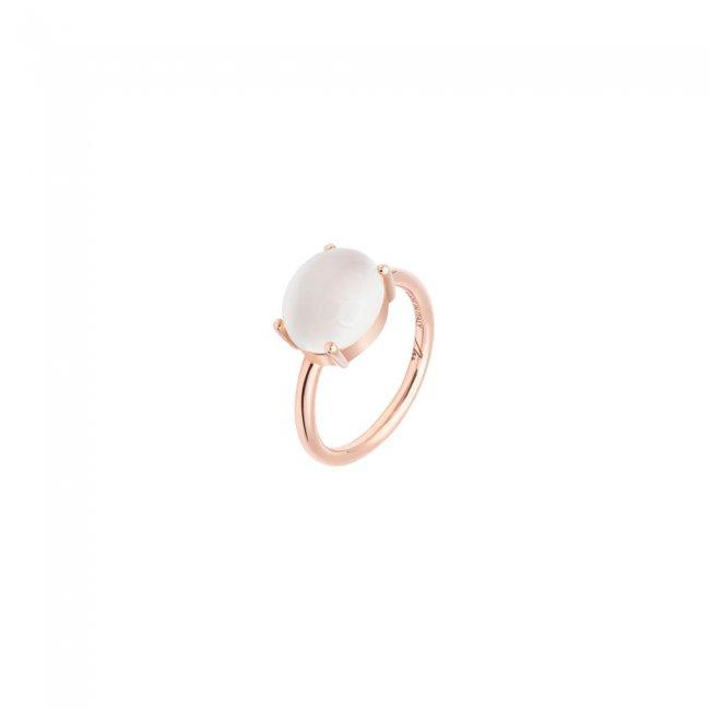 Inel din aur roz de 9 kt cu piatra Mother of Pearl